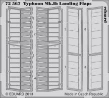 Eduard Typhoon Mk.Ib landing flaps (Airfix)