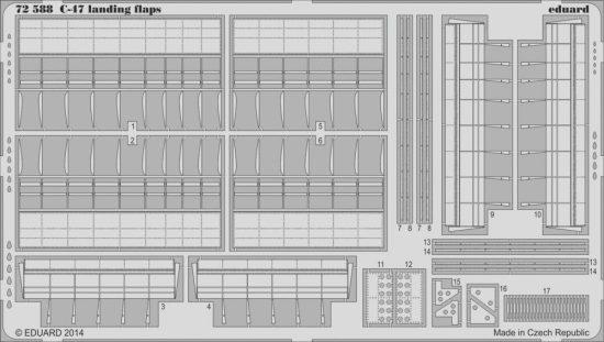 Eduard C-47 landing flaps (Airfix)