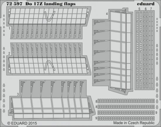Eduard Do 17Z landing flaps (Airfix)