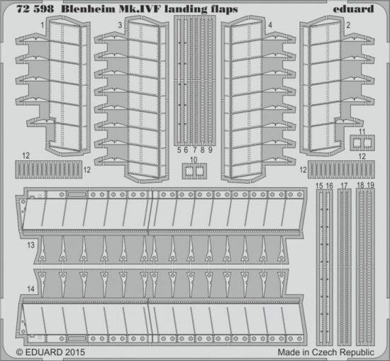Eduard Blenheim Mk.IVF landing flaps (Airfix)