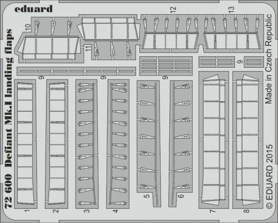 Eduard Defiant Mk.I landing flaps (Airfix)