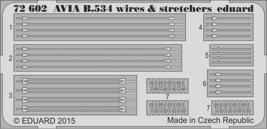 Eduard Avia B.534 wires & stretchers (Eduard)