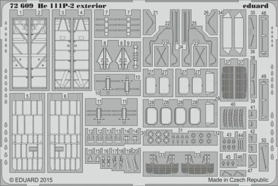 Eduard He 111P-2 exterior (Airfix)