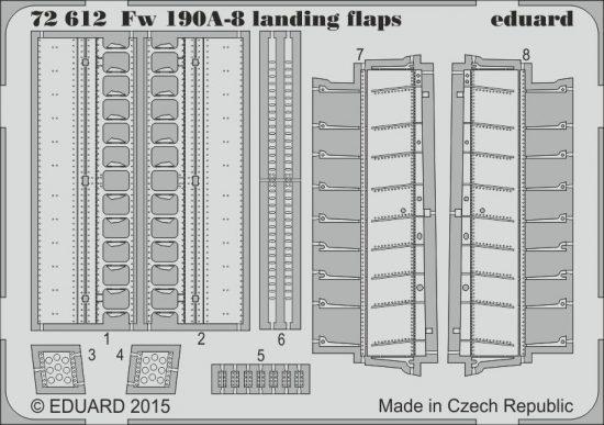 Eduard Fw 190A-8 landing flaps (Eduard)