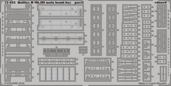 Eduard Halifax B Mk. III main bomb bay (Revell)