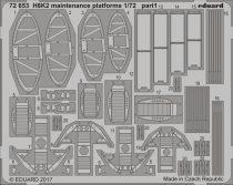 Eduard H8K2 maintenance platforms (Hasegawa)