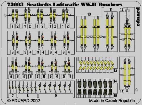 Eduard Seatbelts Luftwaffe WWII Bombers