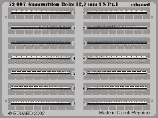 Eduard Ammunition Belts US Cal.0.50