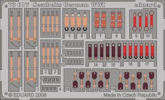Eduard Seatbelts German WWI