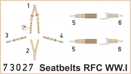 Eduard Seatbelts RFC WWI SUPERFABRIC