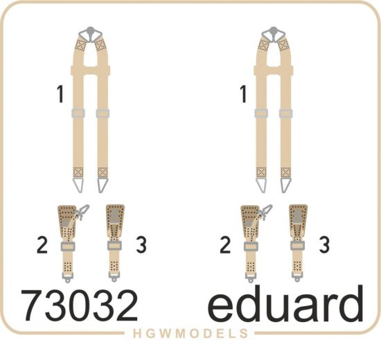 Eduard Seatbelts Luftwaffe WWII bombers SUPERFABRIC
