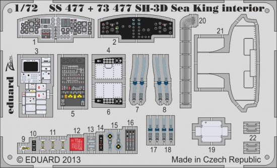 Eduard SH-3D Sea King interior S.A. (Cyber Hobby)