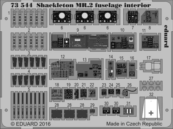 Eduard Shackleton MR.2 fuselage interior (Airfix)