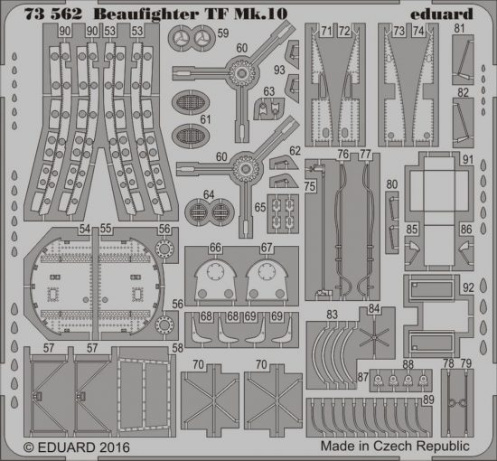 Eduard Beaufighter TF Mk.10 (Airfix)