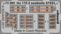 Eduard Do 17Z-2 seatbelts STEEL (ICM)