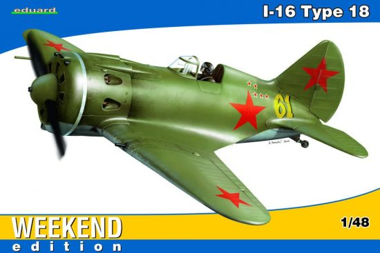 Eduard I-16 Type 18 for Weekend makett