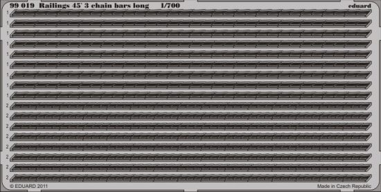 Eduard Railings 45' 3 chain bars long