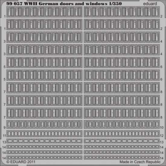 Eduard WWII German doors and windows