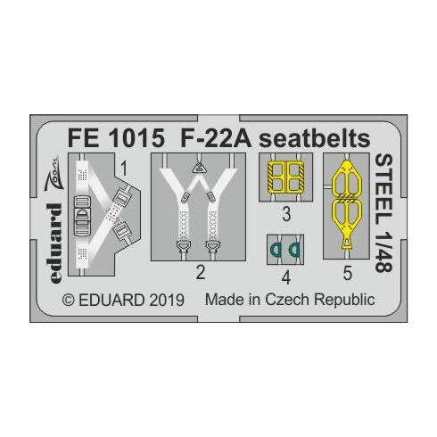 Eduard F-22A seatbelts STEEL (Hasegawa)