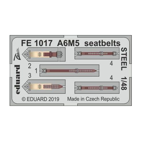 Eduard A6M5 seatbelts STEEL (Tamiya)