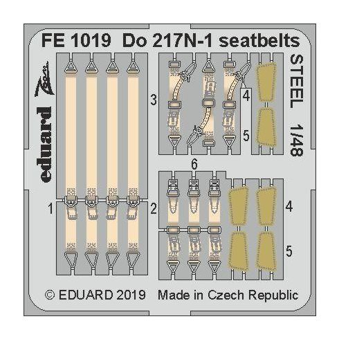 Eduard Do 217N-1 seatbelts STEEL (ICM)