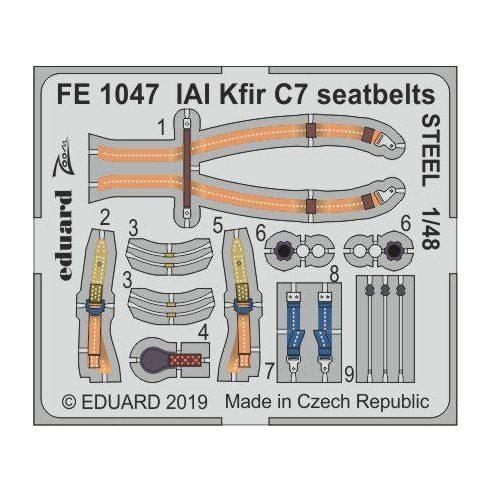 Eduard IAI Kfir C7 seatbelts STEEL (AMK)