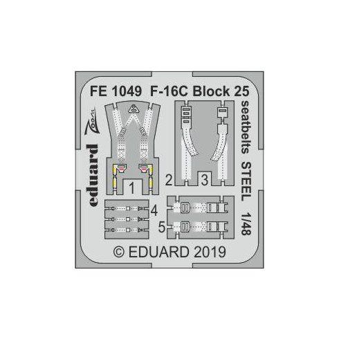 Eduard F-16C Block 25 seatbelts STEEL (Tamiya)