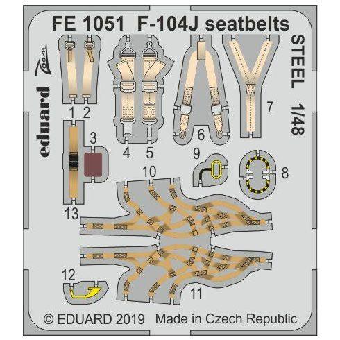 Eduard F-104J seatbelts STEEL (Kinetic Model)