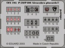 Eduard P-39/P-400 placards