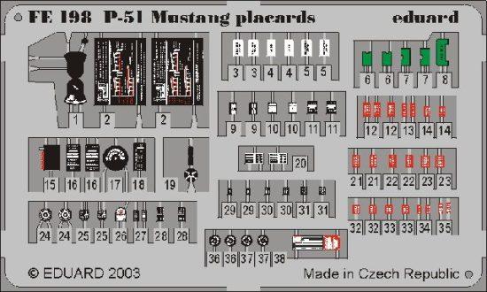 Eduard P-51 placards