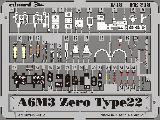 Eduard A6M3 Zero type 22 (Hasegawa)