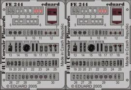 Eduard F4U-1 placards