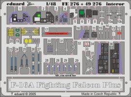 Eduard F-16A  Plus interior (Hasegawa)