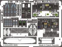 Eduard MH-60G interior (Italeri)