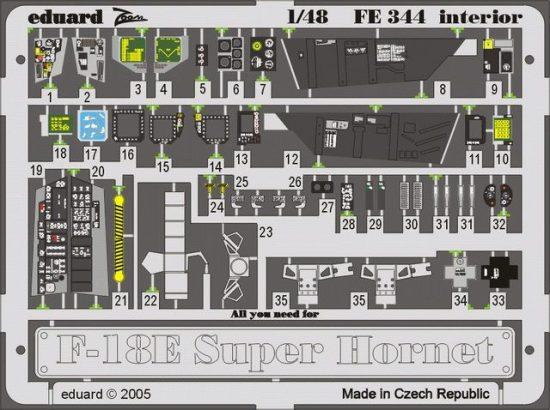 Eduard F-18E interior (Revell)