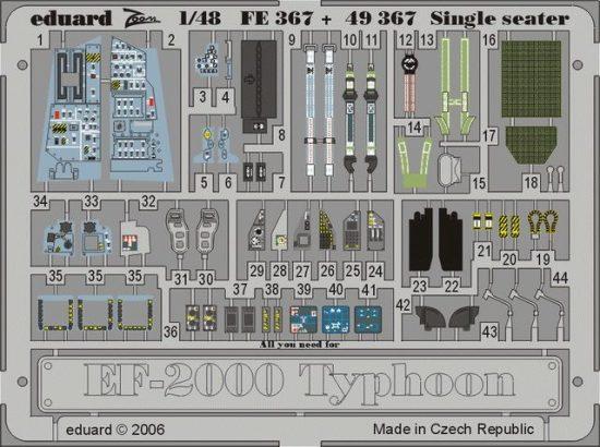 Eduard EF-2000 Typhoon Single Seater (Revell)