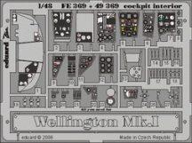 Eduard Wellington Mk.I cockpit interior (Trumpeter)