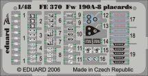 Eduard Fw 190A/F placards (Eduard)