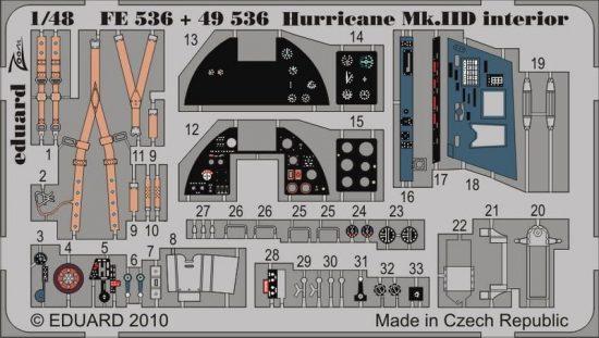 Eduard Hurricane Mk.IID interior S.A. (Hasegawa)