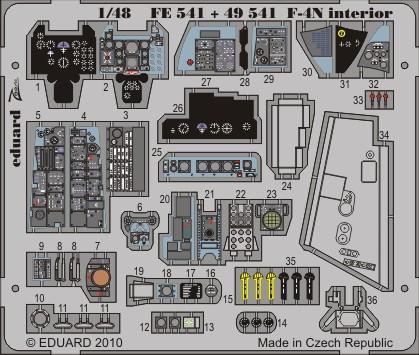 Eduard F-4N interior S.A. (Hasegawa)