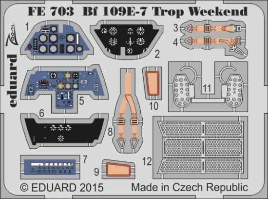 Eduard Bf 109E-7 Trop Weekend (Eduard)
