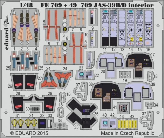 Eduard JAS-39B/D interior S.A. (Kitty Hawk)