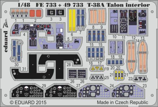 Eduard T-38A Talon interior (Wolfpack)