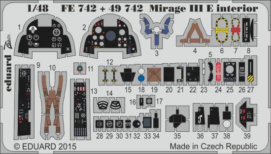 Eduard Mirage III E interior (Kinetic)