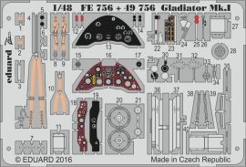 Eduard Gladiator Mk.I interior (Merit)