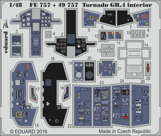 Eduard Tornado GR.4 interior (Revell)