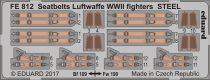 Eduard Seatbelts Luftwaffe WWII fighters STEEL