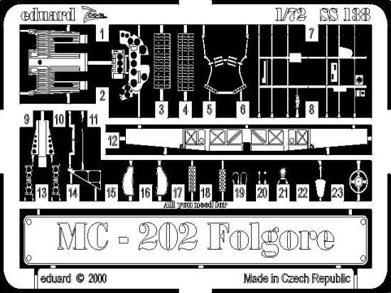 Eduard MC 202 Folgore (Hasegawa)