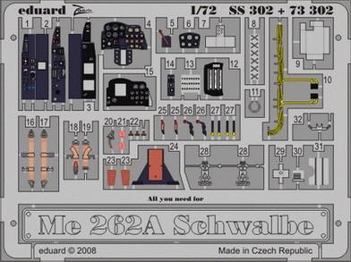 Eduard Me 262A Schwalbe (Academy)