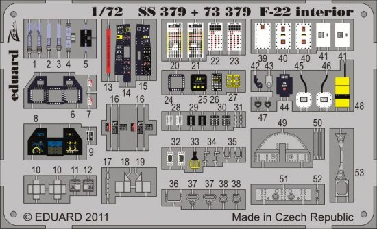 Eduard F-22 interior S.A. (Fujimi)